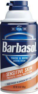 Крем-пена для бритья Barbasol Sensitive Skin Shaving Cream, для чувствительной кожи, 283 г
