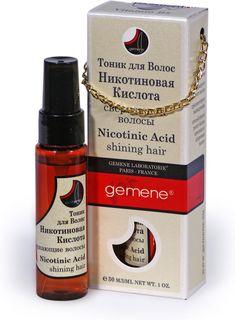 Gemene Тоник с никотиновой кислотой для волос, 30 мл, помпа