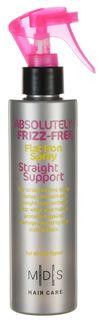 "Hair Care Спрей для волос Absolutely Anti-Frizz Straight Support выпрямляющий с эффектом ""утюжка"", 200 мл Mades Cosmetics"