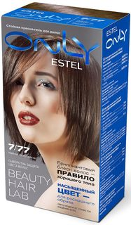 Стойкая краска-гель для волос Estel Only 7/77 Русый коричневый интенсивный EO7/77