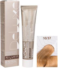 Краска для волос ESTEL PROFESSIONAL 10/37 краска-уход DE LUXE SILVER для окрашивания волос, светлый блондин золотисто-коричневый для 100% седины 60 мл