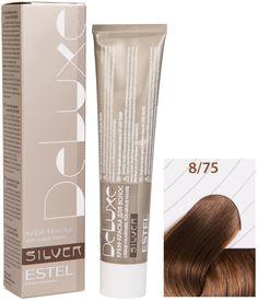 Краска для волос ESTEL PROFESSIONAL 8/75 краска-уход DE LUXE SILVER для окрашивания волос, светло-русый коричнево-красный 60 мл