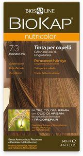 Краска для волос BioKap, тон 7.3 Золотистый Блондин, 140 мл Bios Line S.P.A