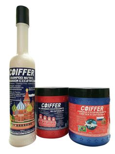 Набор для волос Coiffer RUSSIA (шампунь, крем-флюид, крем-маска), 2х500 г+300 мл