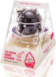 Очищающее средство Econeko Капсула Ice-Cream Bubble Бабуковый уголь