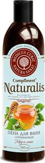 Compliment Натуралис Пена для ванн согревающая Мед и липа, 500 мл