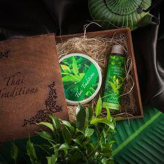 """Подарочный набор для тела Thai Traditions """"Зеленый Чай Детокс"""", Массажное масло, 110 мл + Скраб-гель для тела, 200 мл"""