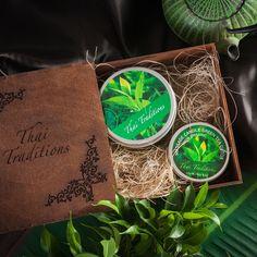 Подарочный набор для тела Зеленый Чай Детокс, Массажная свеча, 120 мл + Скраб-гель для тела, 200 мл Thai Traditions