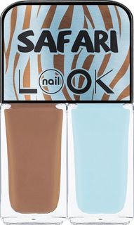 Лак для ногтей NailLOOK Trends Safari Blue Zebra, 2 шт по 3 мл