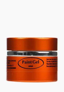 Гель-лак для ногтей краска Planet Nails Paint Gel, алый, 5 г