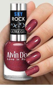 Лак для ногтей Alvin Dor Sky Rock / Сияние звёзд ночного неба тон 6508
