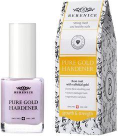 Средство для роста ногтей Berenice Pure gold hardener, укрепляющее, с золотом, 15 мл