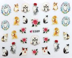 Наклейки для ногтей Липляндия Кошки вид 6