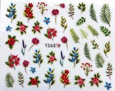 Наклейки для ногтей Липляндия Цветы вид 4