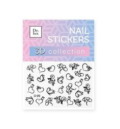 Наклейки для ногтей De.Lux D09