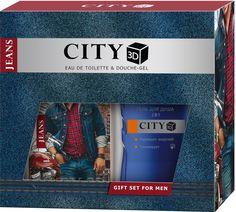 City Parfum Парфюмированный набор: City 3D Jeans Original Туалетная вода, 90 мл + Гель для душа, 150 мл