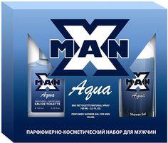 Apple Parfums Набор подарочный мужской X Man Aqua: туалетная вода 100 мл, гель для душа 100 мл