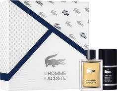 Подарочный парфюмерный набор Lacoste L`homme: туалетная вода 50 мл, деостик, 75 г