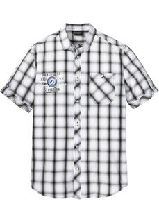 Рубашка с коротким рукавом, дизайн в клету Bonprix