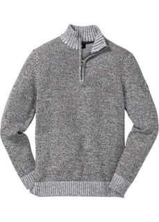 Пуловер с воротником на молнии Bonprix