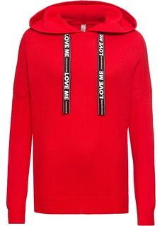 Пуловер с украшенными принтом лентами Bonprix