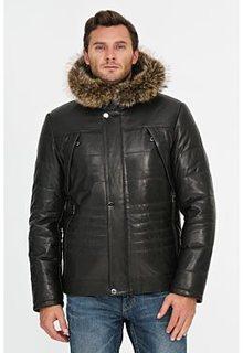 Куртка с подкладкой из овчины и отделкой мехом енота Jorg Weber
