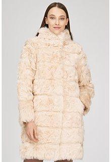 Шуба из овчины калган Virtuale Fur Collection