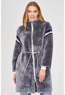 Утепленная шуба из овчины Virtuale Fur Collection