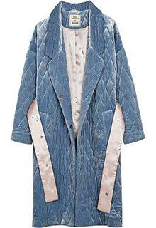 Стеганое пальто из бархата Alena Akhmadullina x Снежная Королева