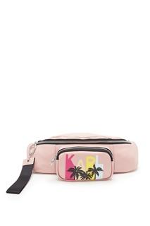 Розовая поясная сумка с отделкой Karl Lagerfeld