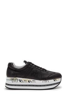 Черные кожаные кроссовки Beth Premiata