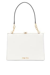 Белая сумка Solitaire Miu Miu