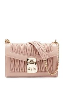 Маленькая бежевая сумка Miu Confidential