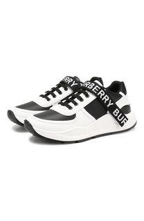 Комбинированные кроссовки Burberry