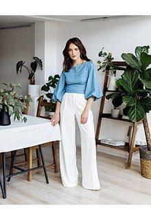 Широкие белые брюки La Reine Blanche