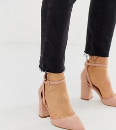 Светло-розовые туфли на каблуке для широкой стопы RAID Katy - Бежевый