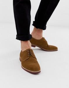 Светло-коричневые замшевые туфли на шнуровке с контрастной подошвой ASOS DESIGN - Рыжий