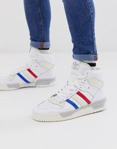 Белые высокие кроссовки с логотипом adidas Originals rivalry