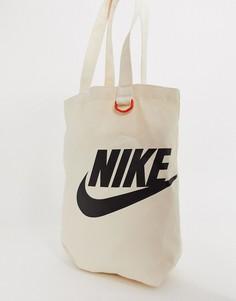 Сумка-тоут кремового цвета Nike - Кремовый