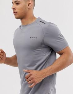 Серая футболка с сетчатыми вставками ASOS 4505 - Серый