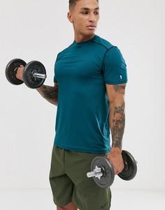 Сине-зеленая эластичная футболка New Look SPORT - Синий