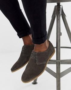 Серые замшевые туфли со шнуровкой ASOS DESIGN - Серый