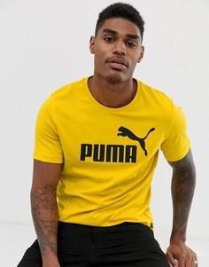 Желтая футболка Puma Essentials - Желтый