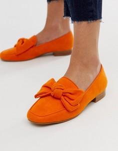 Оранжевые лоферы с бантиком ASOS DESIGN My Girl