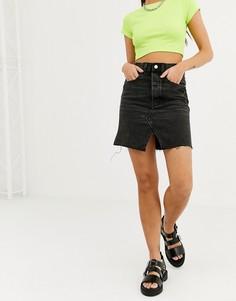 Выбеленная черная облегающая юбка Cheap Monday - Черный