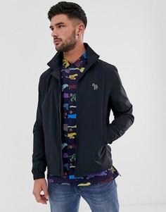 Темно-синяя водонепроницаемая куртка с изображением зебры со светоотражающим эффектом PS Paul Smith - Темно-синий