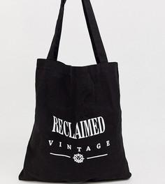 Черная сумка-тоут с логотипом Reclaimed Vintage - Черный