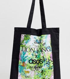 Сумка-тоут с принтом джунгли ограниченной серии Disney The Lion King x ASOS DESIGN unisex