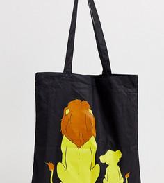 Сумка-тоут с принтом Mufasa and Simba Disney The Lion King x ASOS DESIGN unisex - Черный