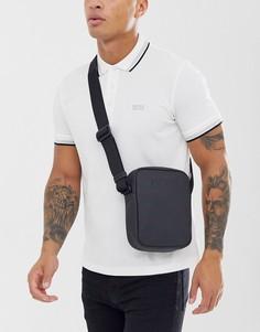 Черная прорезиненная сумка через плечо BOSS Hyper